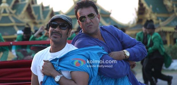 Ajay Devgan, Sanjay Dutt (Rascals Movie Stills)