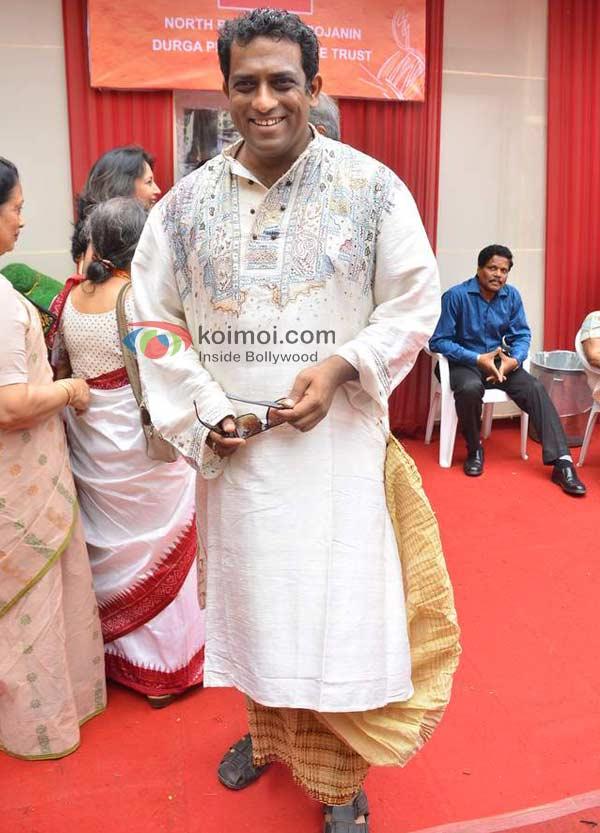 Anurag Basu At Durga Pooja
