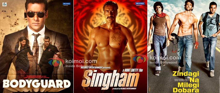 Bodyguard, Singham, Zindagi Na Milegi Dobara