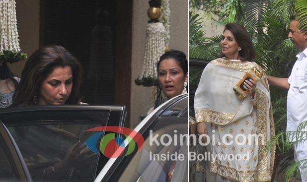 Dimple Kapadia, Maanayata Dutt, Neetu Kapoor