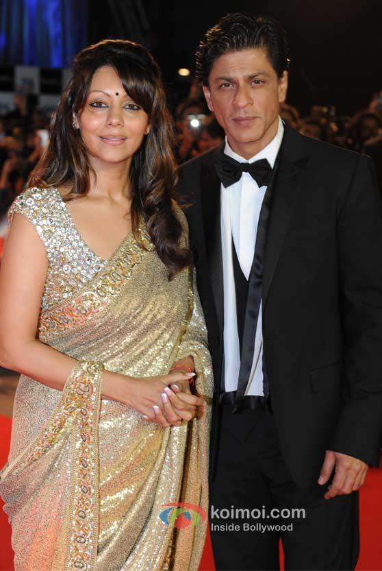 Gauri Khan, Shah Rukh Khan At London Premiere Of Ra.One
