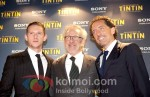 Jamie Bell, Steven Spielberg At The Adventures of Tintin Premiere