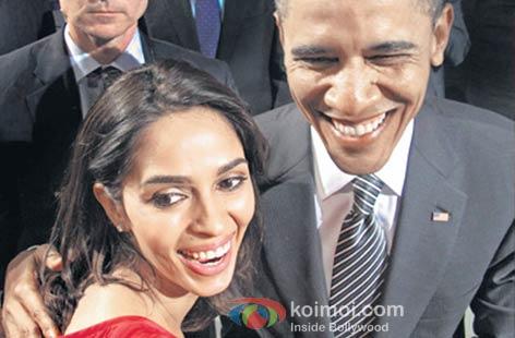 Mallika Sherawat with US President Barak Obama.