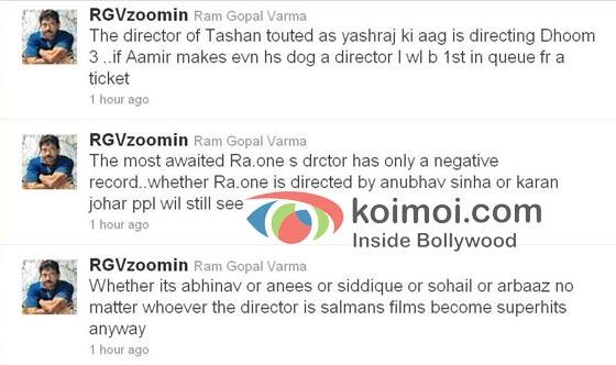 Ram Gopal Varma's latest Twitter rant.