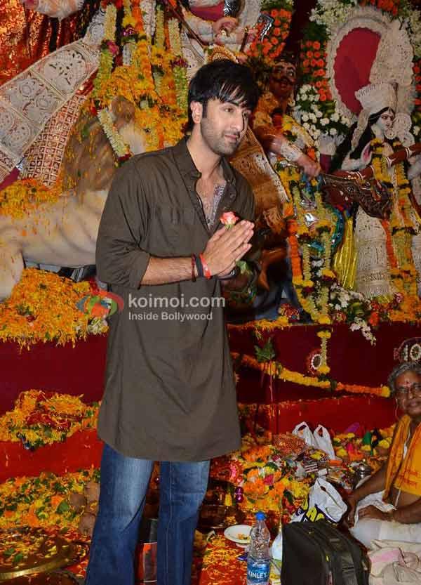 Ranbir Kapoor At Durga Pooja