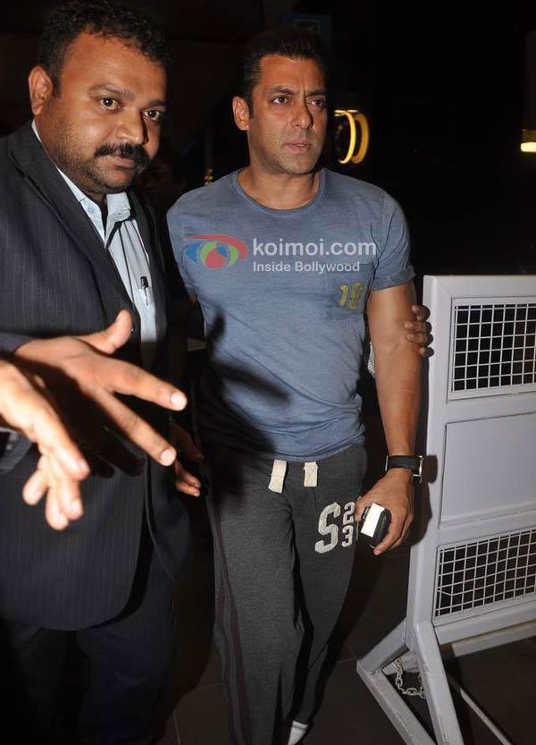 Salman Khan Spotted At Mumbai International Airport