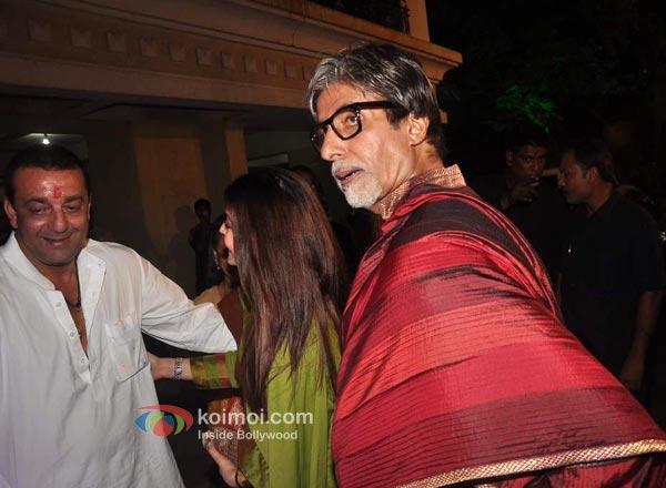 Sanjay Dutt, Aishwarya Rai Bachchan, Amitabh Bachchan