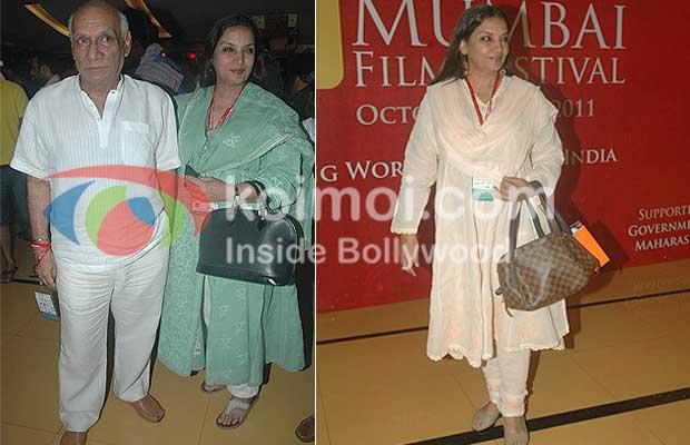 Yash Chopra, Shabana Azmi At 13th Mumbai Film Festival