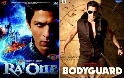 Ra.One Movie Poster, Bodyguard Movie Poster