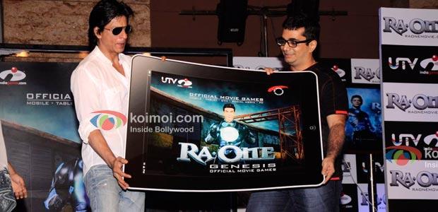 Shah Rukh Khan At Ra.One Game Launch