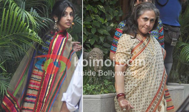 Shweta Bachchan, Nanda, Jaya Bachchan