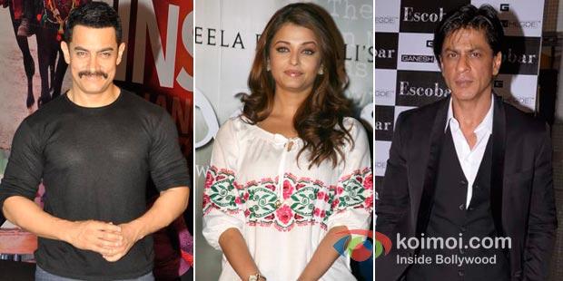 Aamir Khan, Aishwarya Rai, Shah Rukh Khan