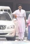 Abhishek Bachchan Visits Aishwarya Rai At Hospital