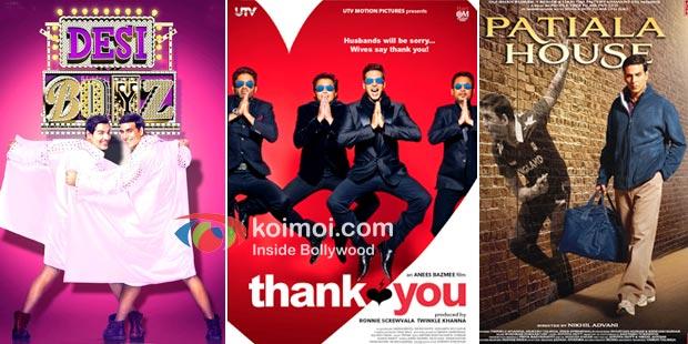 Akshay kumar in Desi Boyz, Thank You, Patiala House