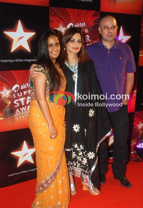 Arpita Khan, Atul Agnihotri, Alvira Agnihotri At Star Super Star Awards
