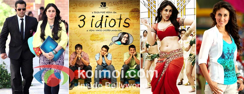 Kareena Kapoor In Bodyguard, 3 Idiots, Ra. One and Golmaal 3