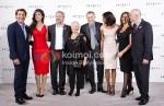 Javier Bardem, Berenice Marlohe, Sam Mendes, Judi Dench, Daniel Craig, Naomie Harris, Barbara Broccoli At Skyfall Announcement