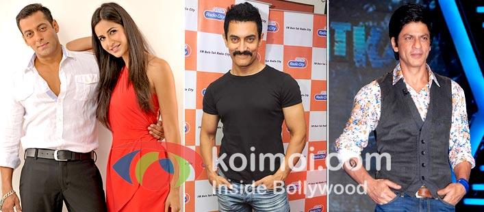 Katrina Kaif , Salman Khan, Aamir Khan, Shah Rukh Khan