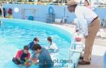 Morgan Freeman, Nathan Gamble, Austin Highsmith, Betsy Landin (Dolphin Tale Movie Stills)