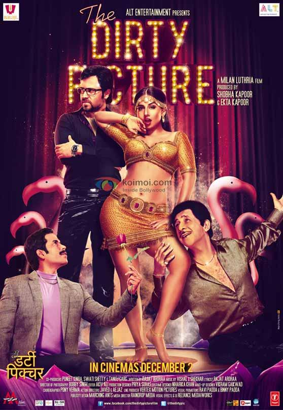 Tusshar Kapoor, Emraan Hashmi, Vidya Balan, Naseeruddin Shah (The Dirty Picture Movie Poster)