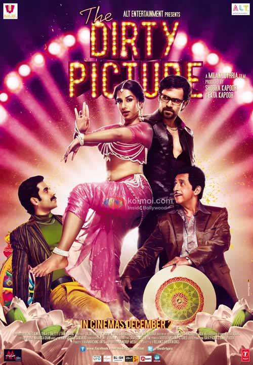 Tusshar Kapoor, Vidya Balan, Emraan Hashmi, Naseeruddin Shah (The Dity Picture Movie Poster)