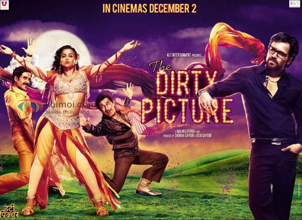 Tusshar Kapoor, Vidya Balan, Naseeruddin Shah, Emraan Hashmi (The Dirty Picture Movie Wallpaper)