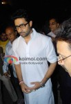 Abhishek Bachchan At Dev Anand's Prayer Meet