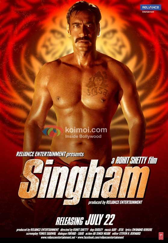 Ajay Devgan Singham Movie Poster