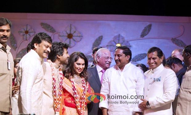 Chiranjeevi, Ram Charan Tej ,fiancée Upasna Prathap C Reddy ,CM Kiran Kumar Reddy , Anil Kamineni