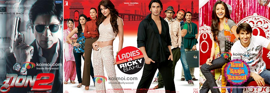 Don2, Ladies Vs Ricky Bahl, Band Baaja Baaraat
