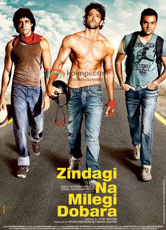 Farhan Akhtar, Hrithik Roshan, Abhay Deol, Zindagi Na Milegi Dobara Poster