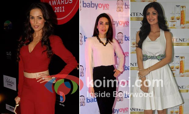 Malaika Arora Khan, Karisma Kapoor, Shilpa Shetty