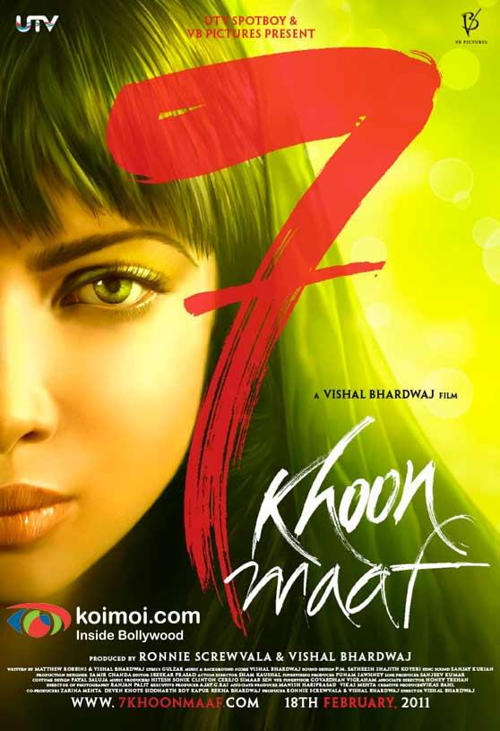 Priyanka Chopra 7 Khoon Maaf Movie Poster