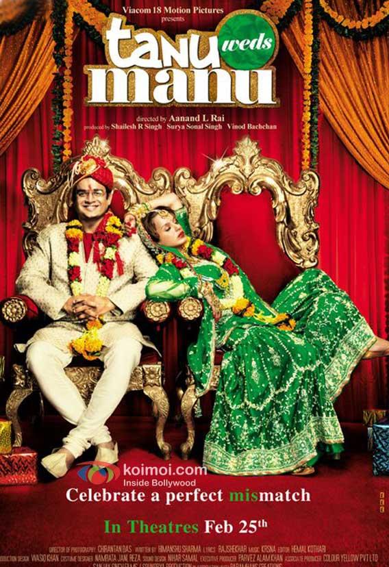 R Madhavan, Kangna Ranaut Tanu Weds Manu Movie Poster