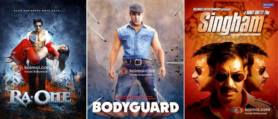 Ra.One, Bodyguard, Singham