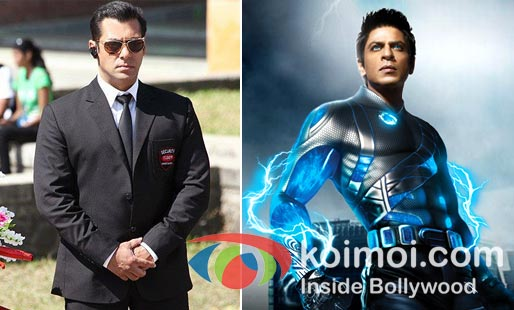 Salman khan in Bodyguard, Shah Rukh Khan In Ra.One
