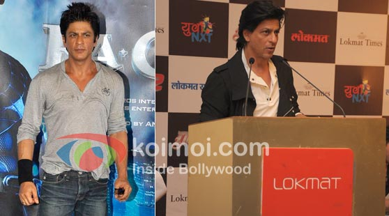 Shah Rukh Khan Promote Ra.One And Don 2