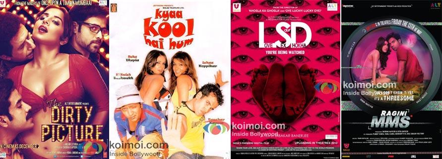 The Dirty Picture, Kya Kool Hai Hum, Love Sex Aur Dhokha, Ragini MMS