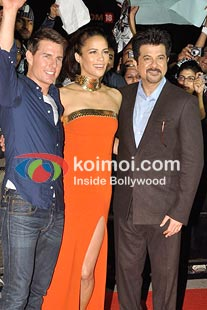 Tom Cruise,Paula Patton, Anil Kapoor at the screening of MI4 on December 4.