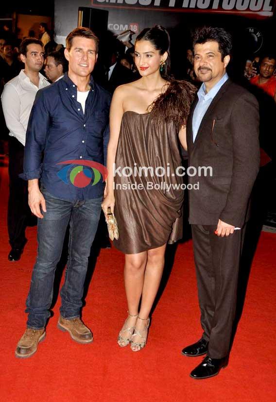Tom Cruise, Sonam Kapoor, Anil Kapoor