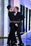 Adam Levine, Jimmy Fallon At Golden Globe 2012 On Stage
