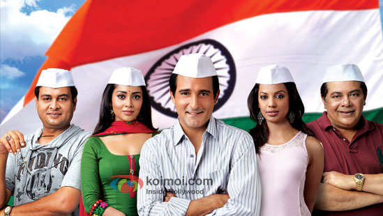 Akshaye Khanna and rest of the Gali Gali Chor Hai cast