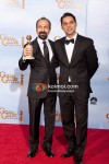Asghar Farhadi and Peyman Moaadi At Golden Globe 2012 Winners Portrait