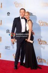 Damian Lewis, Claire Danes At Golden Globe 2012 Winners Portrait