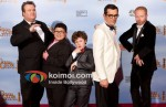 Eric Stonestreet, Rico Rodriguez, Nolan Gould, Ty Burrell and Jesse Tyler Ferguson At Golden Globe 2012 Winners Portrait