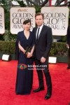 Eve Mavrakis, Ewan McGregor At Golden Globe Red Carpet 2012