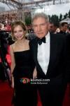 Harrison Ford, Calista Flockhart At Golden Globe Red Carpet 2012