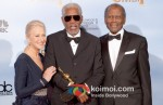 Helen Mirren, Morgan Freeman, Sidney Poitier At Golden Globe 2012 Winners Portrait