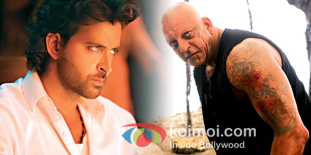 Hrithik Roshan and Sanjay Dutt in Agneepath