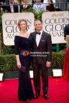 Janet McTeer At Golden Globe Red Carpet 2012